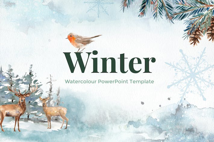 Winter watercolour powerpoint template by site2max on envato elements cover image for winter watercolour powerpoint template toneelgroepblik Choice Image