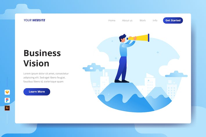 Thumbnail for Business Vision - Landing Page