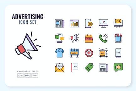 Conjunto de iconos de publicidad