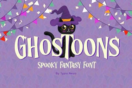 Ghostoons - Spooky Fantasy Font