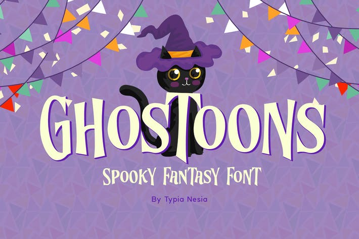 Thumbnail for Ghostoons - Spooky Fantasy Font