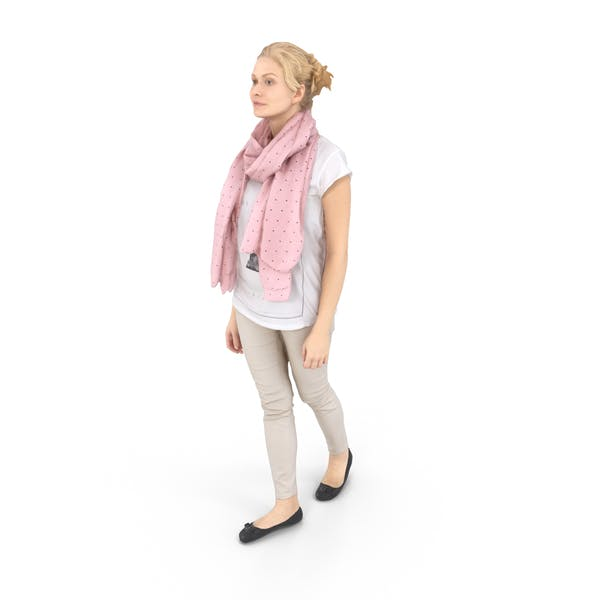 Woman Walking Casual