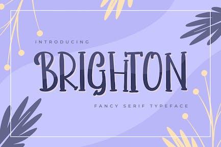 Brighton | Tipografía de Con serifa Fancy