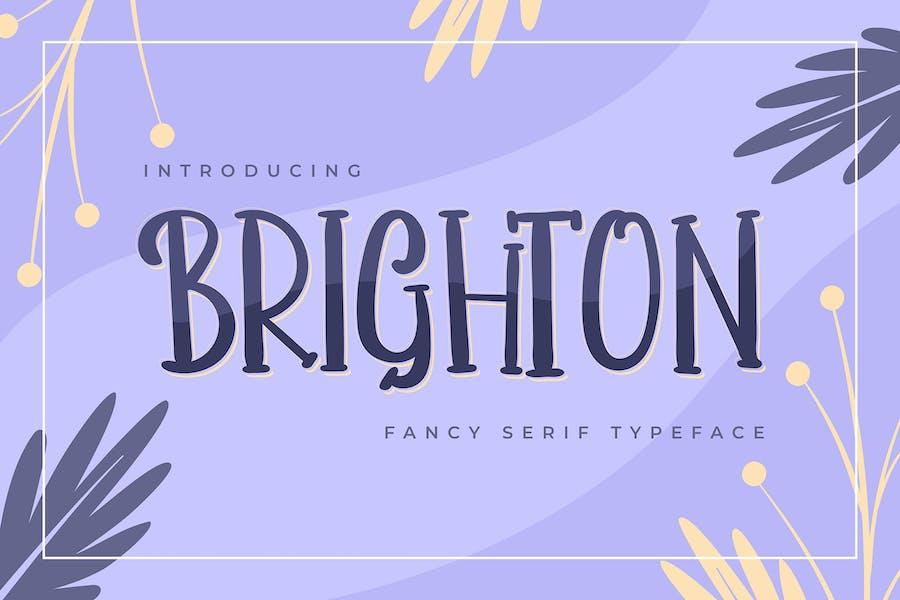 Brighton   Tipografía de Con serifa Fancy