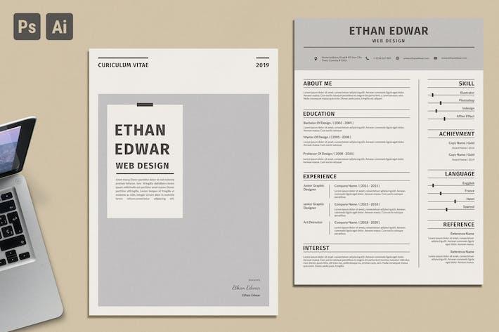 Thumbnail for CV Clean Resume Vol 28