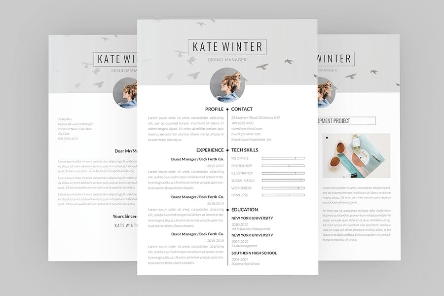 CV Kate Winter Resume Designer