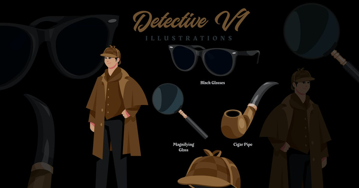 Download Detective V1 - Illustrations by ilhamtaro