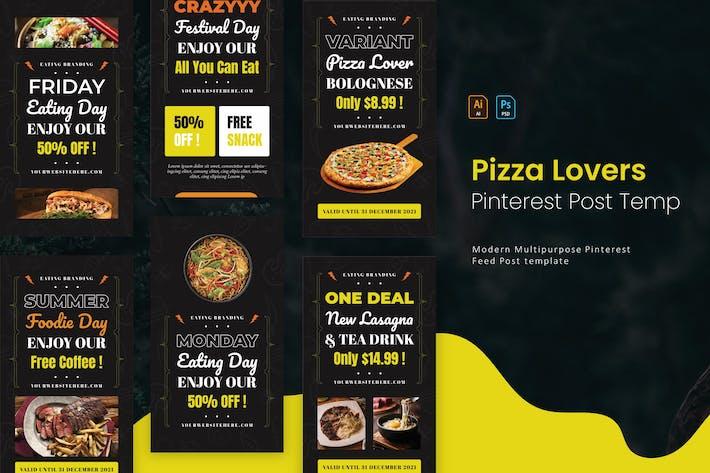 Pizza Lover | Pinterest Post Template