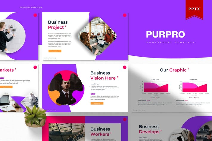 Thumbnail for Purpro | Powerpoint Template