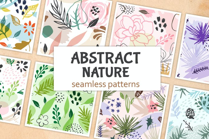 Thumbnail for Abstract Seasonal Floral Patterns
