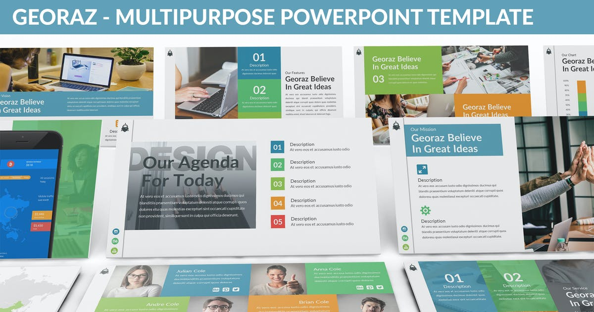Download Georaz - Multipurpose Powerpoint Template by SlideFactory