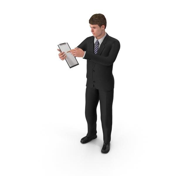 Thumbnail for Businessman John Holding Notepad