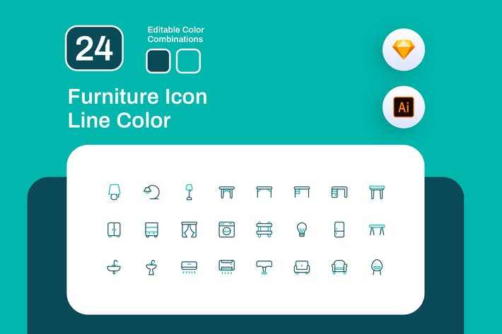 Thumbnail for Furniture Icon Line Color