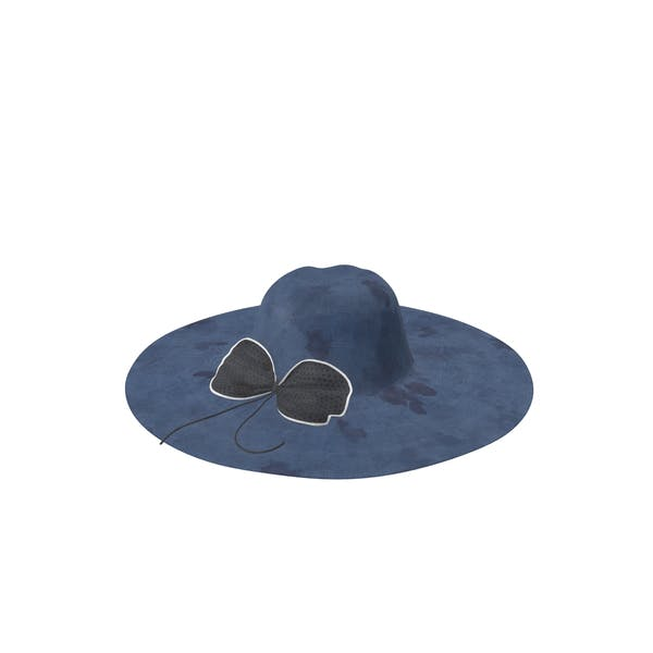 Hat With Bow Blue A Dirty