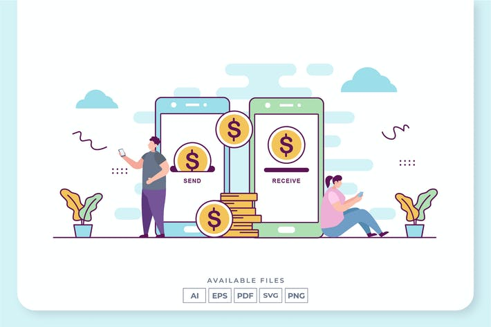 Thumbnail for Mobile Payment Concept Illustration