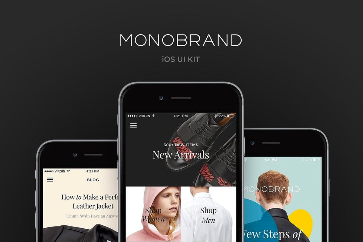 Download Monobrand iOS UI Kit by greatsimple by Unknow
