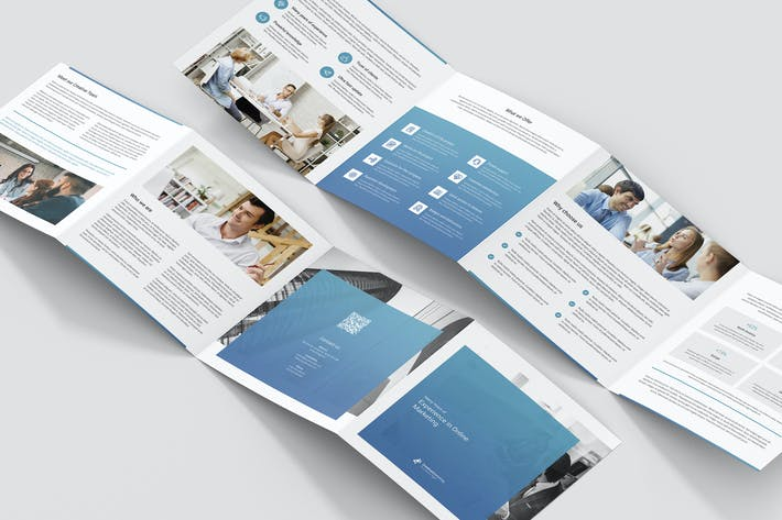 Cover Image For Brochure – Creative Marketing 4-Fold Square