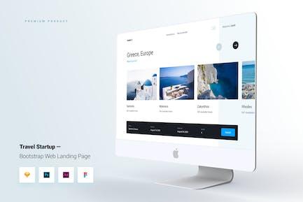 Travel Startup Bootstrap Kit interface utilisateur de la page de destination Web