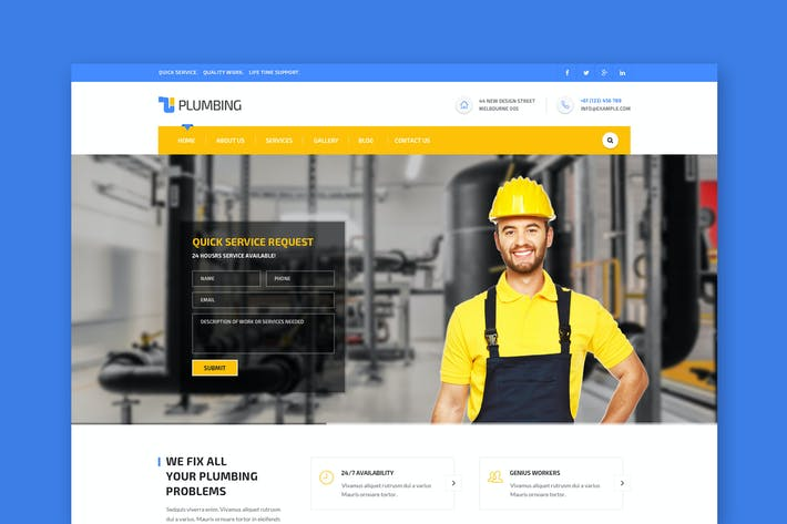 Thumbnail for Handyman: Construction, Building & Plumbing HTML