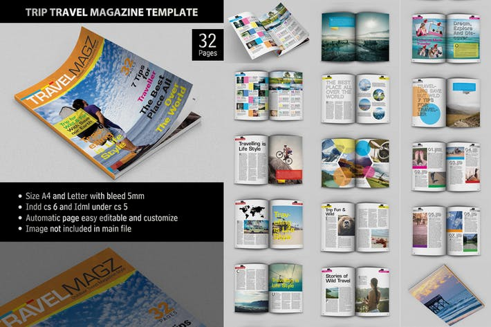 Thumbnail for Trip Travel - Magazine Template