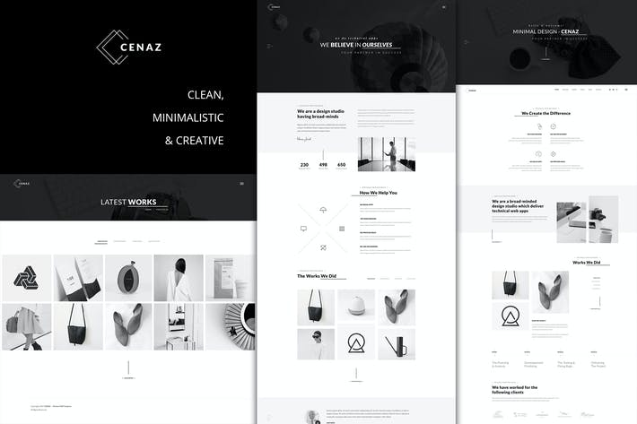 Thumbnail for CEZAN - Minimal Creative WordPress Thema