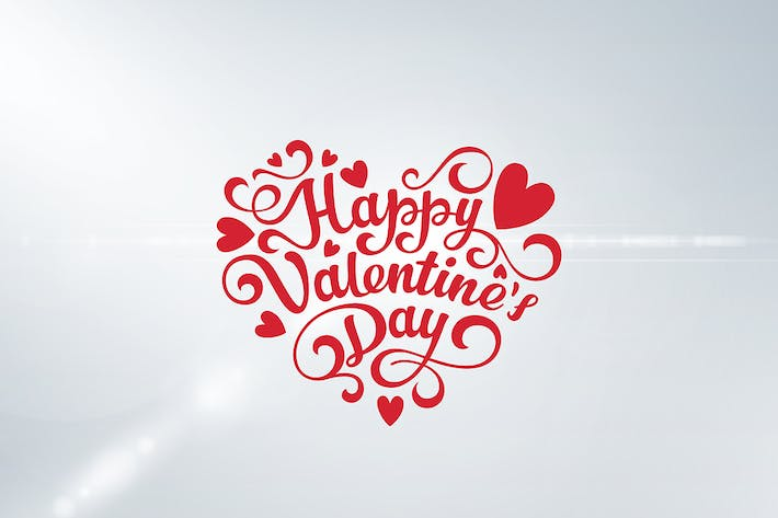 Thumbnail for Valentines Day Greeting Card Lettering template