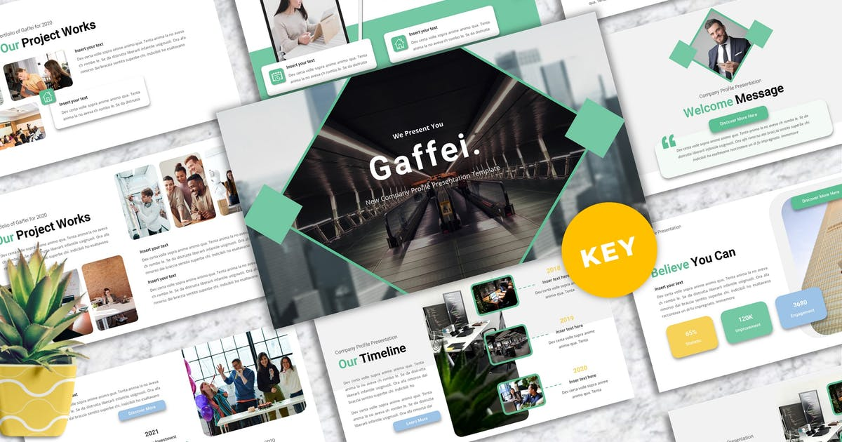Download Gaffei - Company Profile Keynote Templates by Yumnacreative