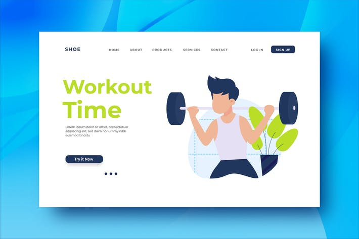 Thumbnail for Workout Time Landing Page Illustration