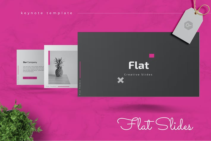 Thumbnail for FLAT - Creative Keynote Template