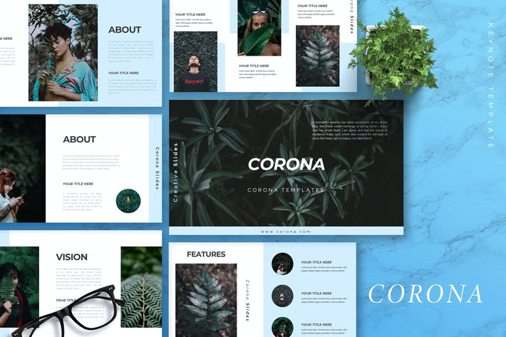Cover Image For CORONA - Creative Keynote Template