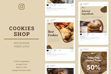 Cookies Shop Instagram Post Template