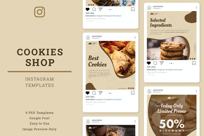 Thumbnail for Cookies Shop Instagram Post Template