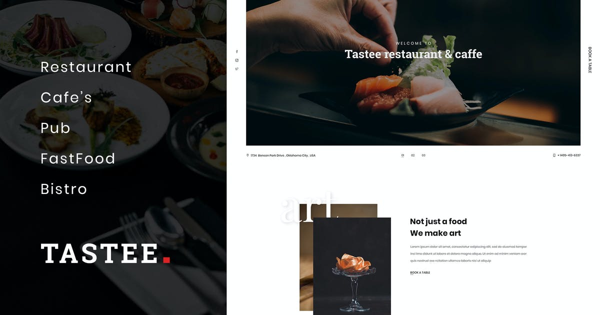 Download Tastee | Restaurant PSD Template by AuThemes