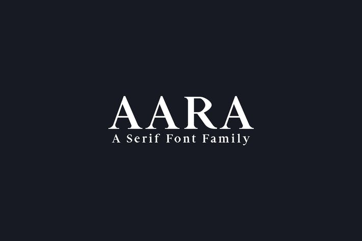 Thumbnail for Aara Serif Font Family