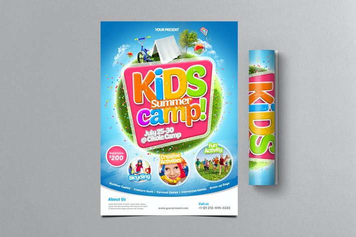 Thumbnail for Kids Summer Camp Flyer 2