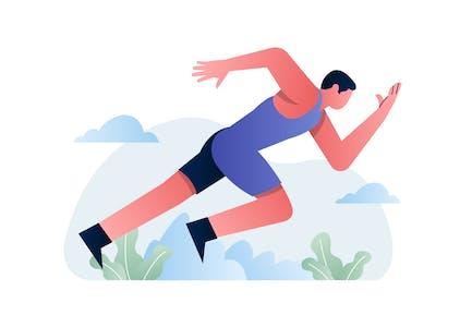 Спорт - бег Вектор иллюстрация