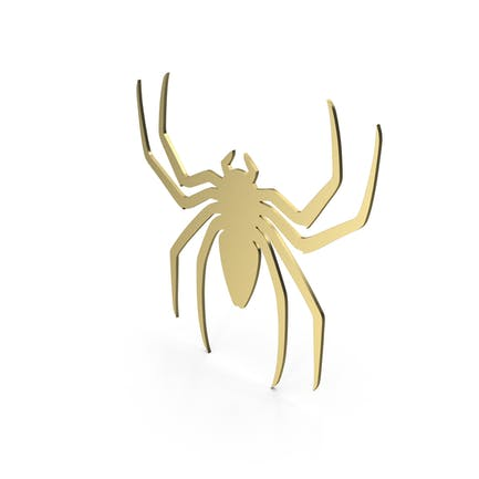Spinnenfigur Gold