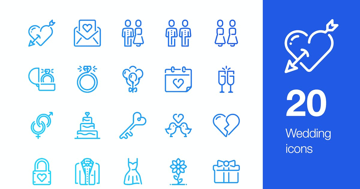 Download 20 Wedding icons by mir_design