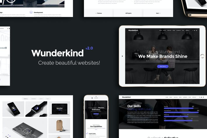 Thumbnail for Wunderkind - One Page Parallax HTML5 Template