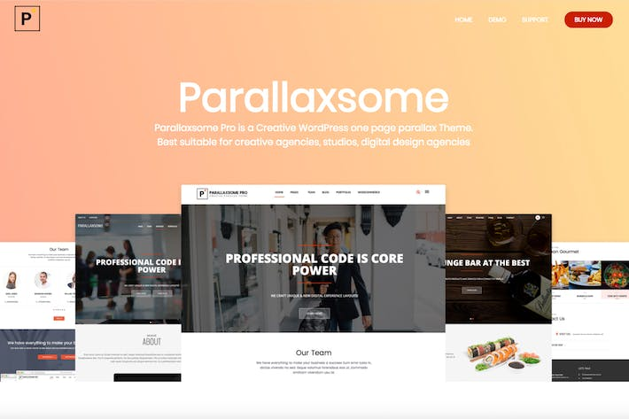Thumbnail for ParallaxSome Pro - Multipurpose WordPress Theme