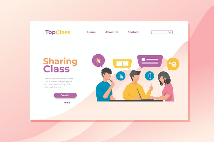 Thumbnail for Sharing Class Landing Page Illustration