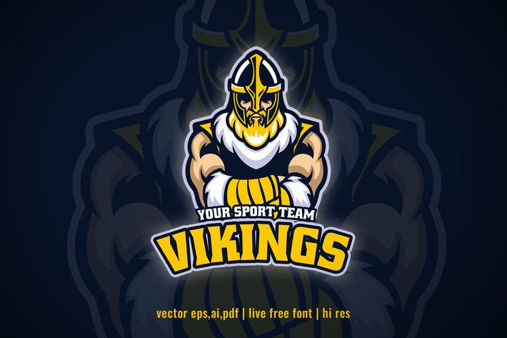 Thumbnail for viking warrior for sport and e-sport logo