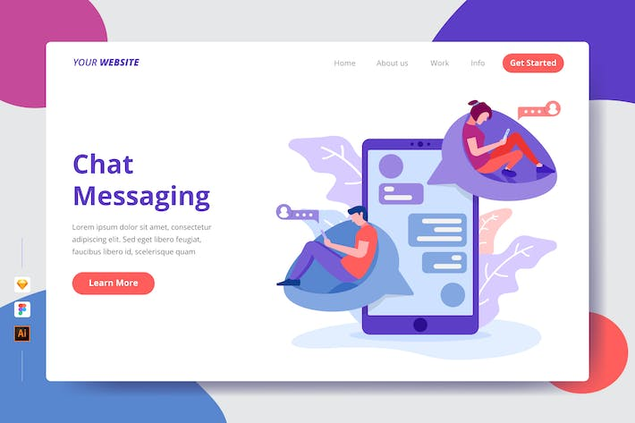 Thumbnail for Chat Messaging - Landing Page