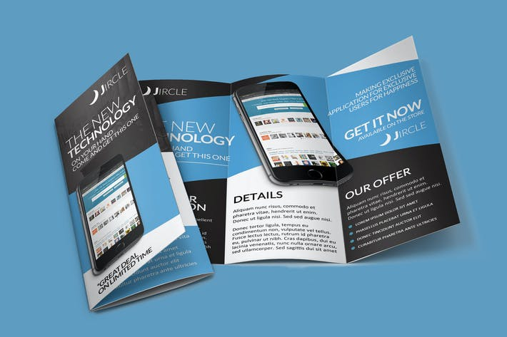 Thumbnail for App Promo Trifold Brochure