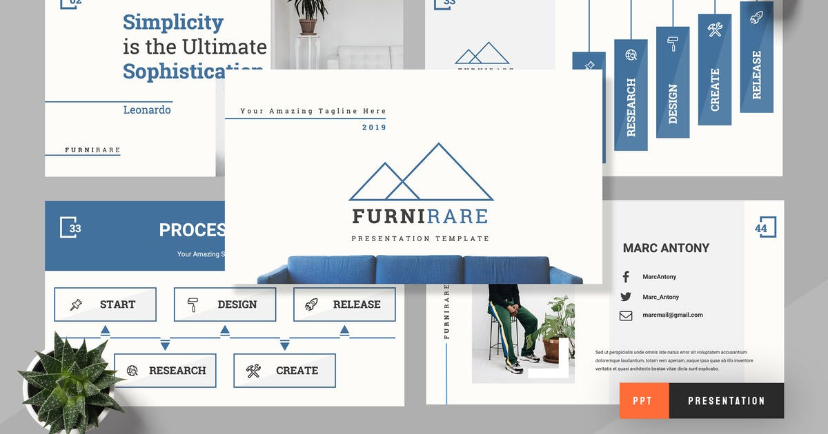 Download Furturare - Furniture Powerpoint Presentation by TMint