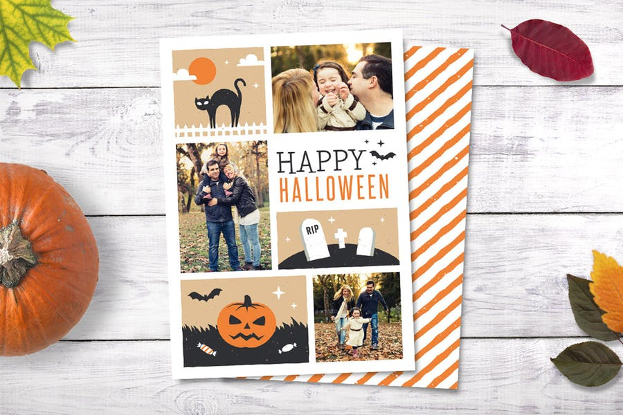 Illustrated Halloween Greeting Card