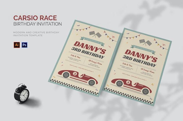 Thumbnail for Carsio Race - Birthday Invitation