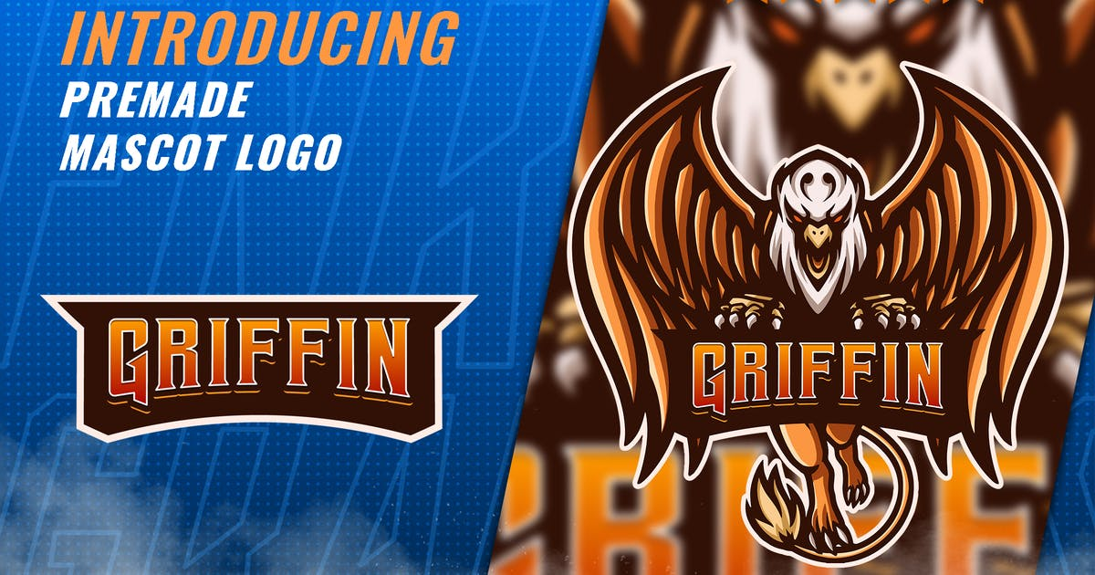 Download Gold Griffin - Mascot Esport Logo Template by FNRGraphics