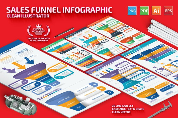 Sales Funnel Infographics