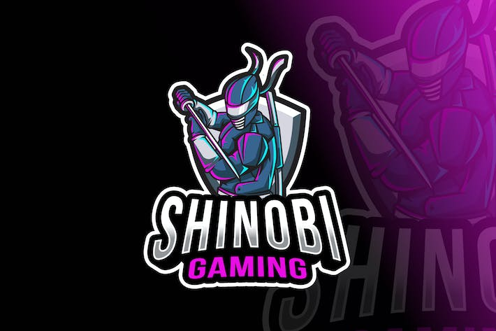 Thumbnail for Shinobi Gaming Logo Template